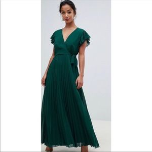NWT ASOS Petite pleated maxi dress